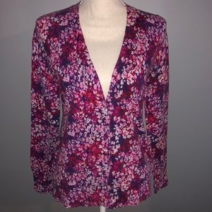 Floral Express Cardigan with Jeweled Buttons